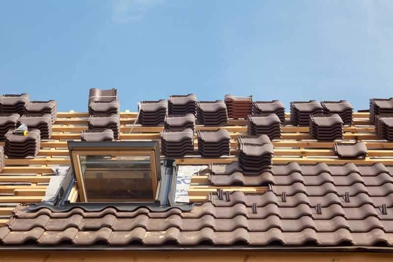 Aanleg Nieuw dak met dakpannen